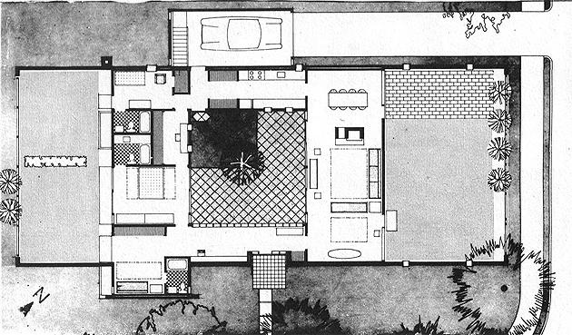 Casa sert en cambridge arquiscopio archivo - Planos de casas con patio interior ...