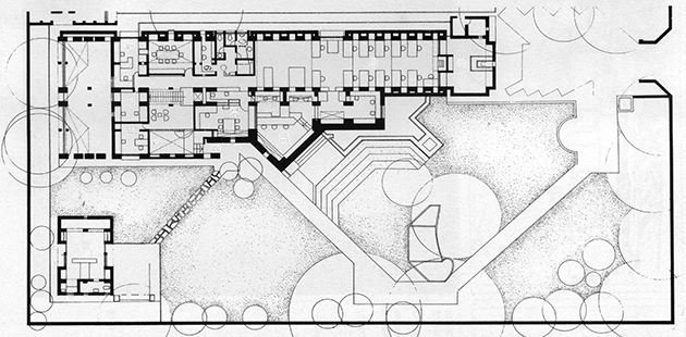 Oficina de arquitectura sangath arquiscopio archivo for Planta arquitectonica de una oficina