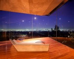 Wedge Shaped Glass Living Room of Sheats-Goldstein House