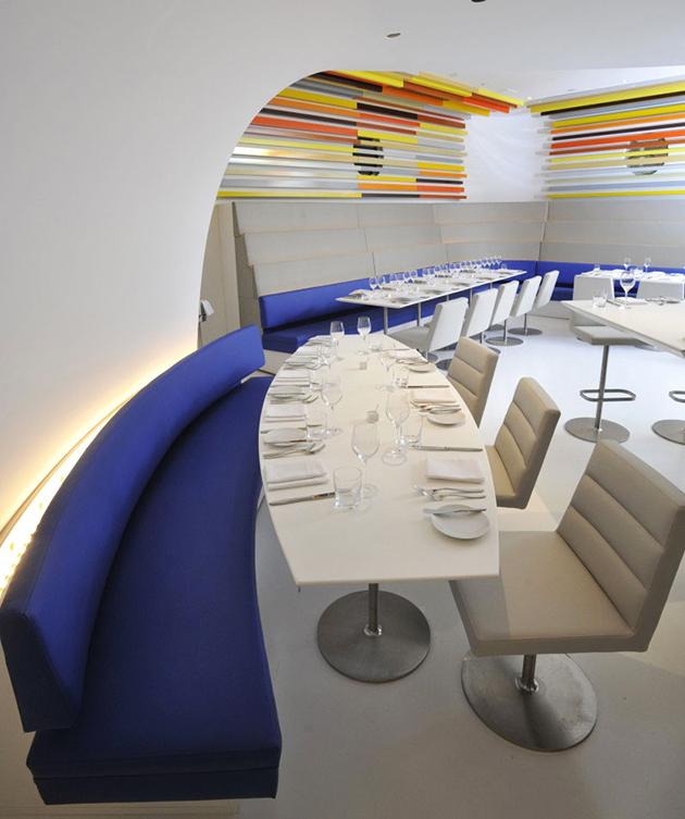 Restaurante the wright arquiscopio for Espacio interior